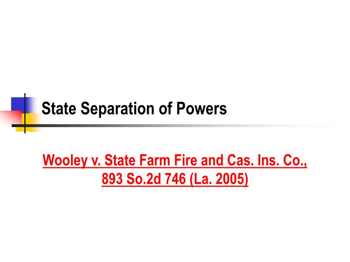 State separation of powers