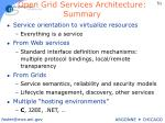 open grid services architecture summary