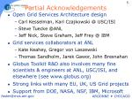 partial acknowledgements