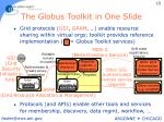 the globus toolkit in one slide
