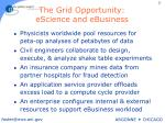 the grid opportunity escience and ebusiness