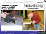 inspection and correction of the lcls vc end flange perpendicularity
