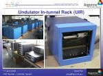 undulator in tunnel rack uir1