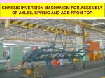chassis inversion machanism for assembly of axles spring and agb from top