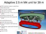 adaptive 2 5 m m4 unit for 39 m1
