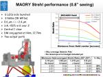 maory strehl performance 0 8 seeing