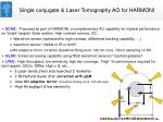 single conjugate laser tomography ao for harmoni
