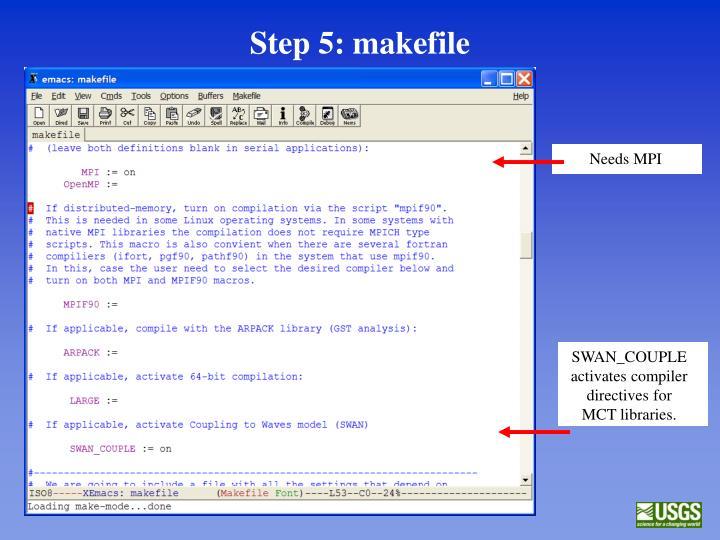 Step 5: makefile