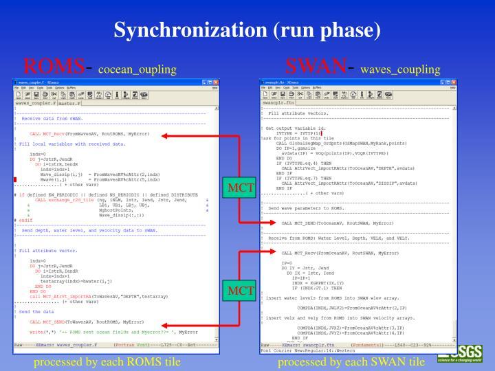 Synchronization (run phase)