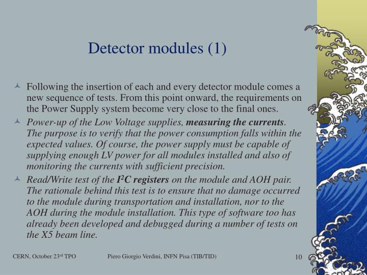 Detector modules (1)