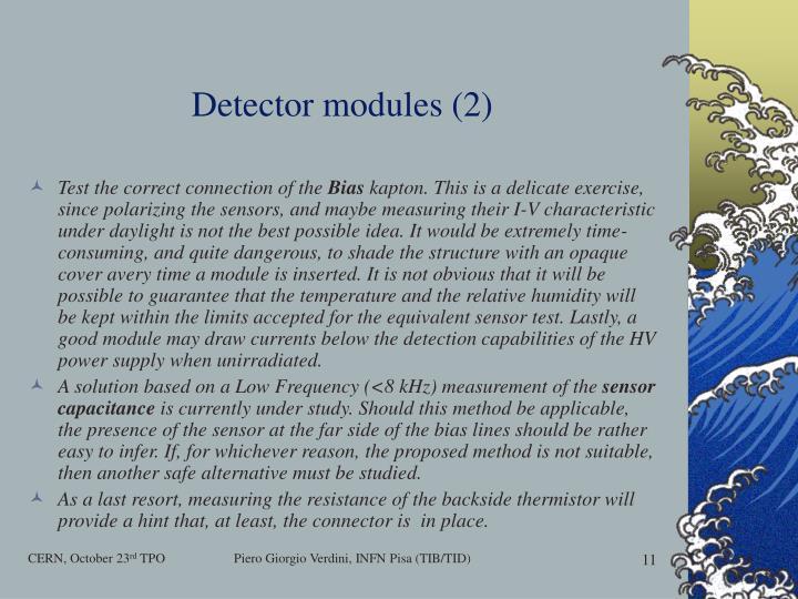 Detector modules (2)