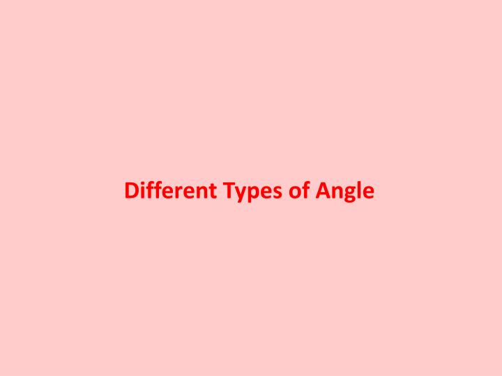 different types of angle n.