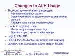 changes to alh usage