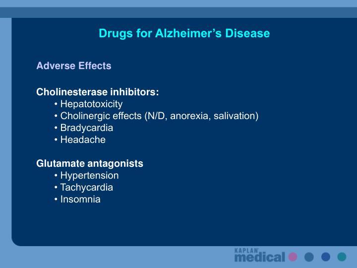 Drugs for Alzheimer's Disease