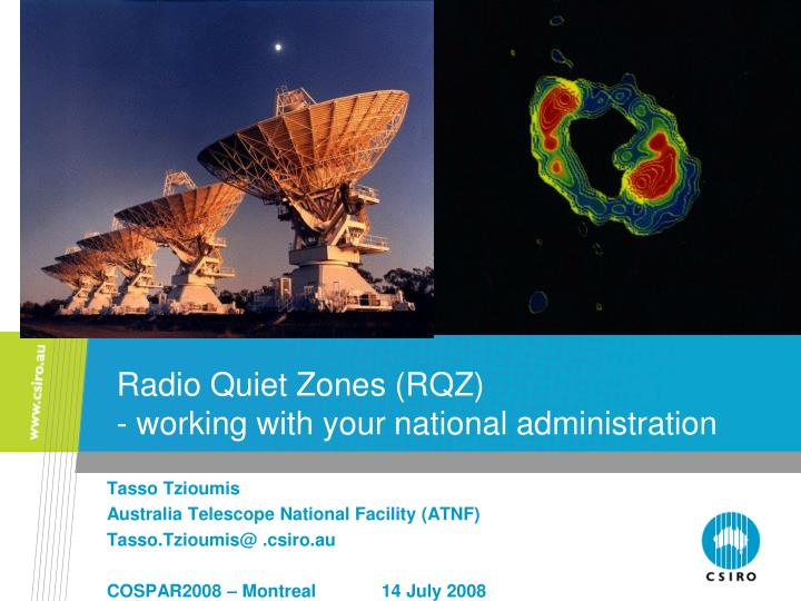 radio quiet zones rqz working with your national administration n.