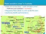 radio sensitive zones in australia