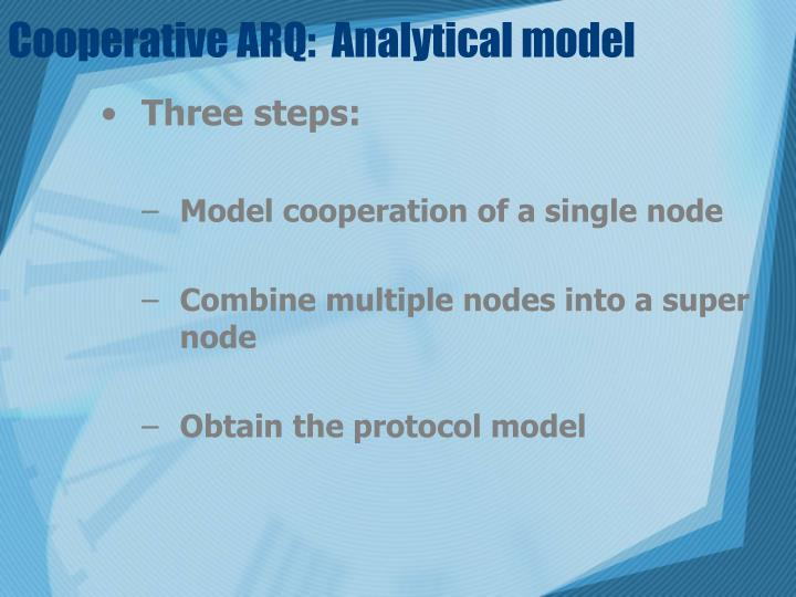 Cooperative ARQ:  Analytical model