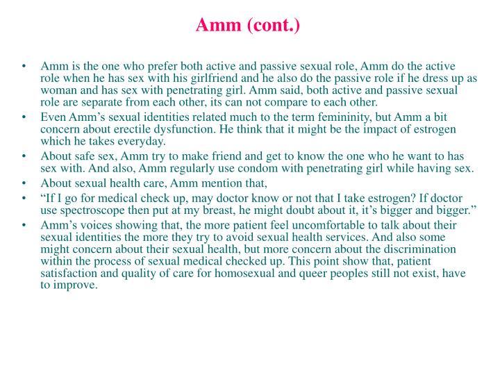 Amm (cont.)
