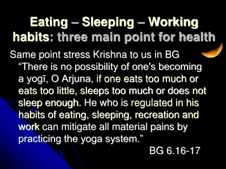 """Same point stress Krishna to us in BG """"There is no possibility of one's becoming a yogī, O Arjuna,"""