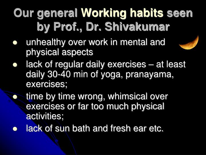 unhealthy over work in mental and physical aspects