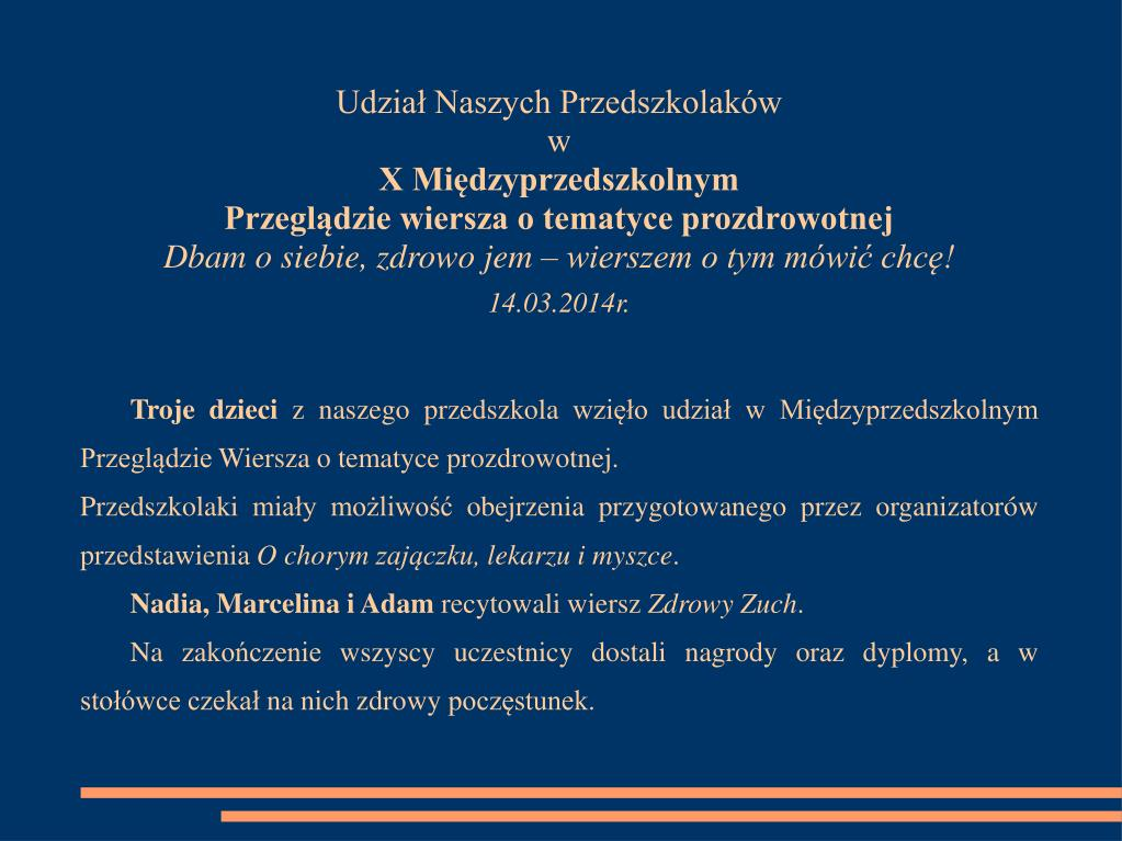 Ppt Akademia Zdrowego Przedszkolaka Powerpoint