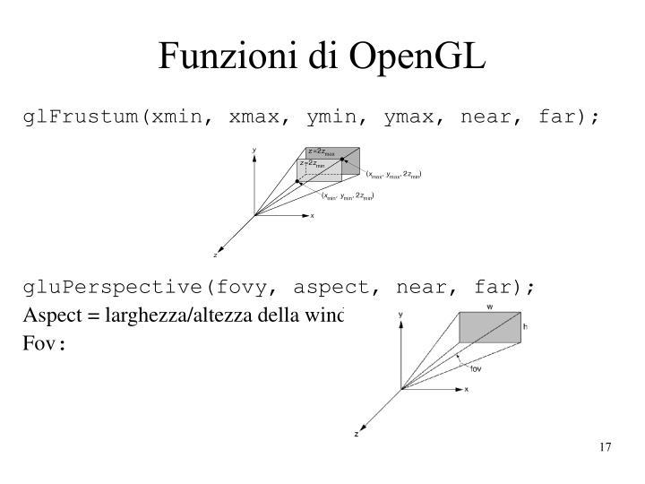 Funzioni di OpenGL