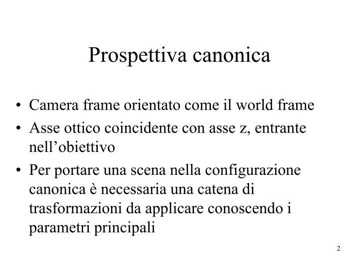 Prospettiva canonica