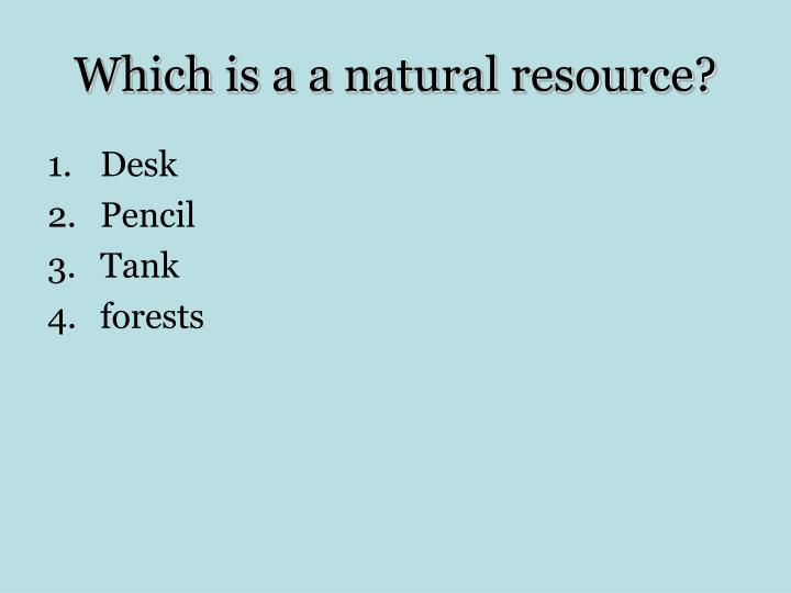 Which is a a natural resource?
