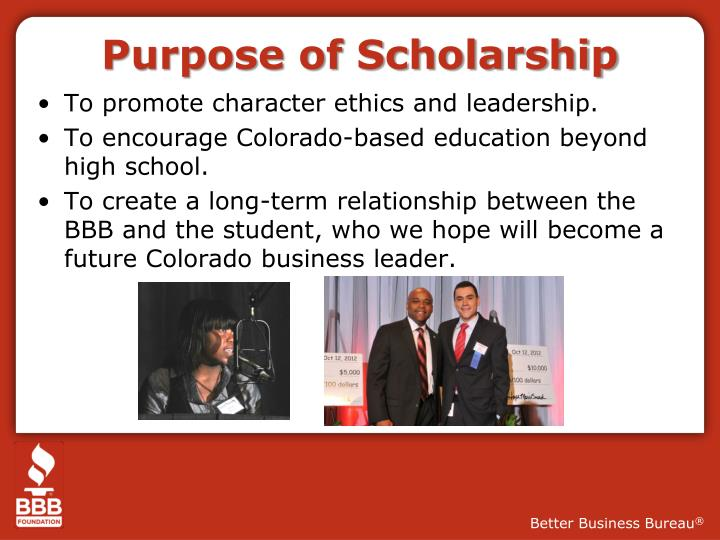 better business bureau essay scholarship Stuck on your scholarship essay edubirdie writers provide scholarship essay help online to get affordable and premium quality papers the professional scholarship essay writing service for students who can't even get your scholarship essay written starting at just $1800 a page.