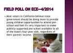 field poll on ece 4 2014