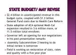 state budget may revise