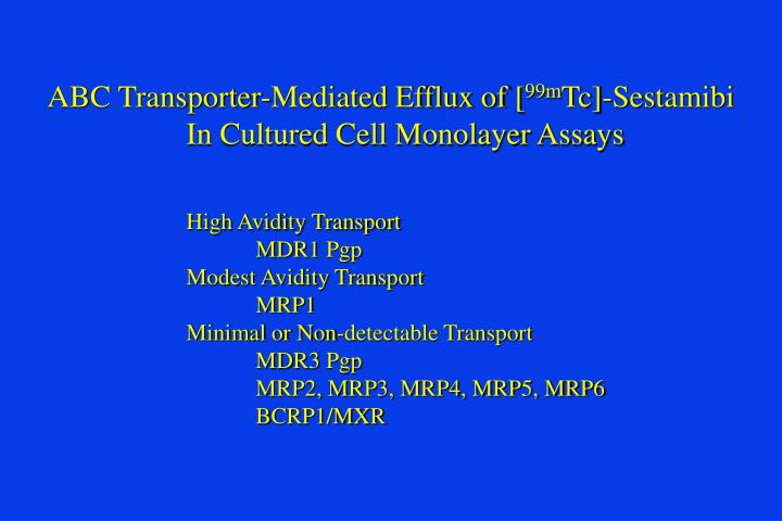 ABC Transporter-Mediated Efflux of [