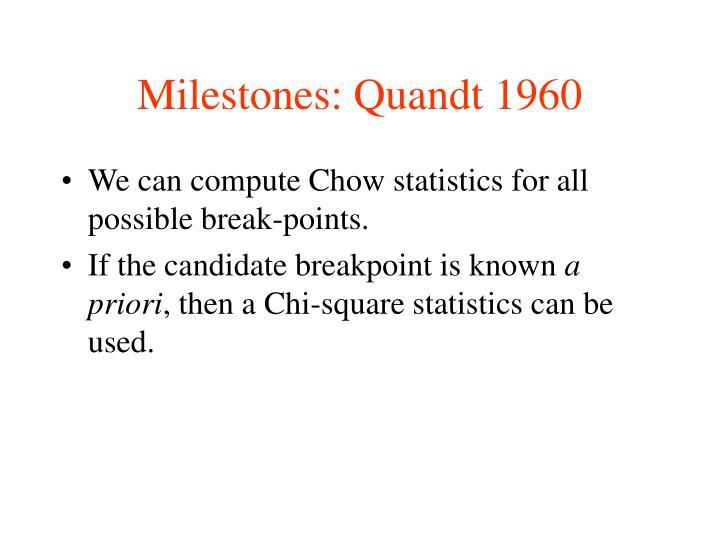 Milestones: Quandt 1960