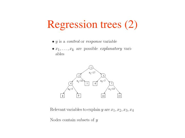 Regression trees (2)