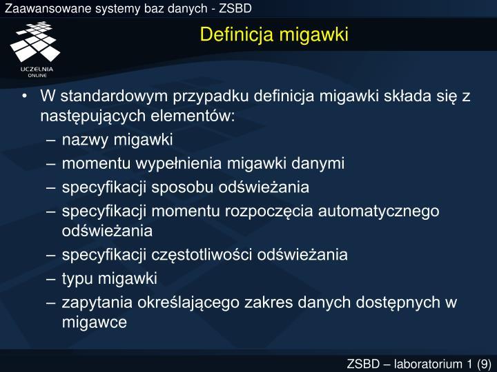 Definicja migawki