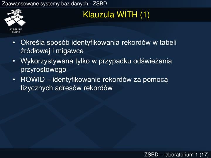 Klauzula WITH (1)