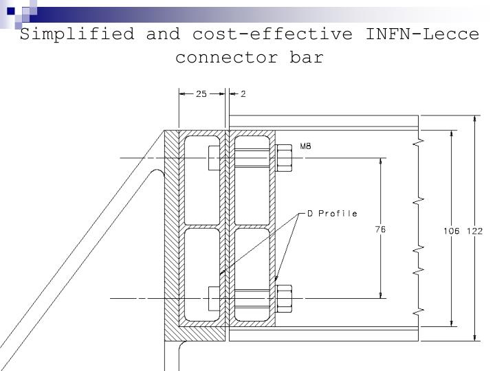 Simplified and cost-effective INFN-Lecce