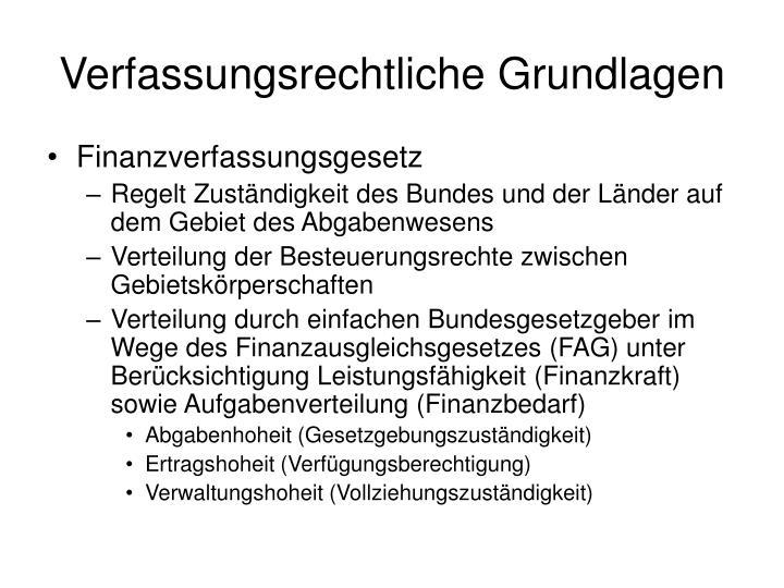 Verfassungsrechtliche grundlagen