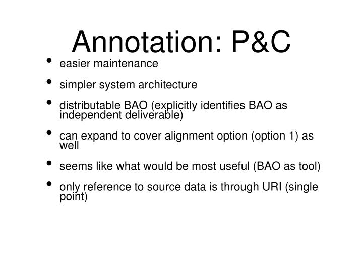 Annotation: P&C