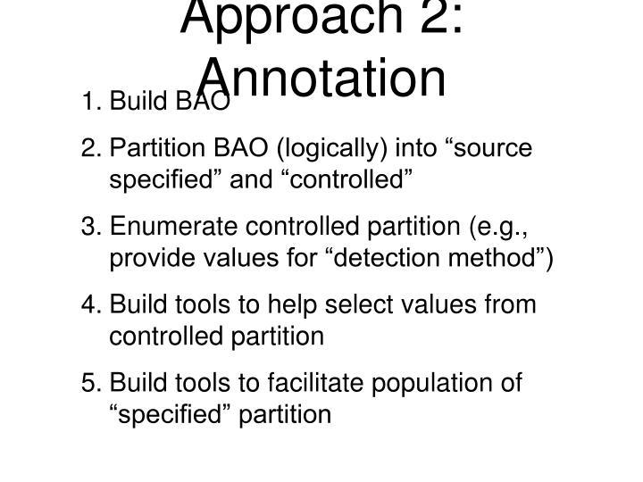 Approach 2: Annotation