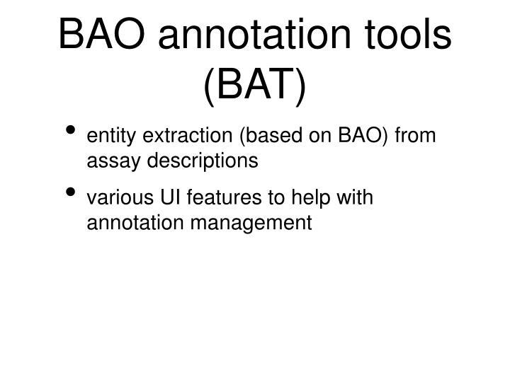 BAO annotation tools