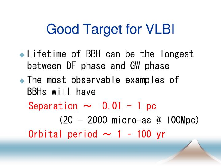 Good Target for VLBI