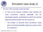simulation case study i