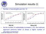 simulation results i