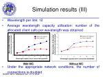 simulation results iii