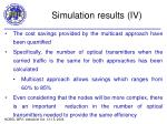 simulation results iv