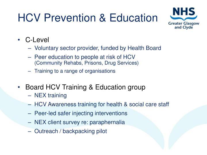 HCV Prevention & Education