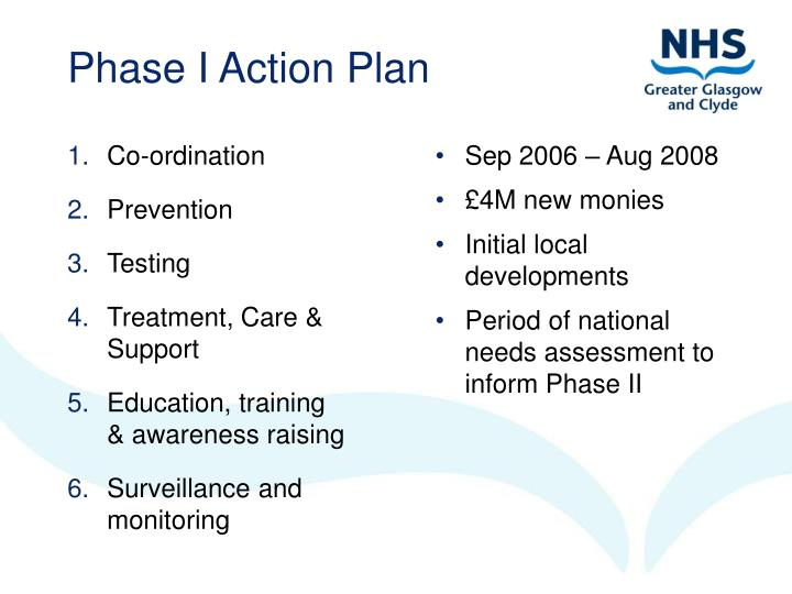 Phase i action plan