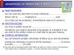 advantages of memos and e mails