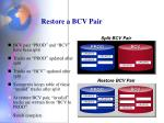 restore a bcv pair